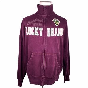 Lucky Brand Vintage Inspired Zip Up Jacket